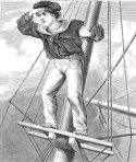 Lookout boy aloft, by Harrison Weir