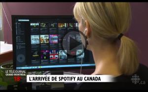 L'arrivée de Spotify au Canada